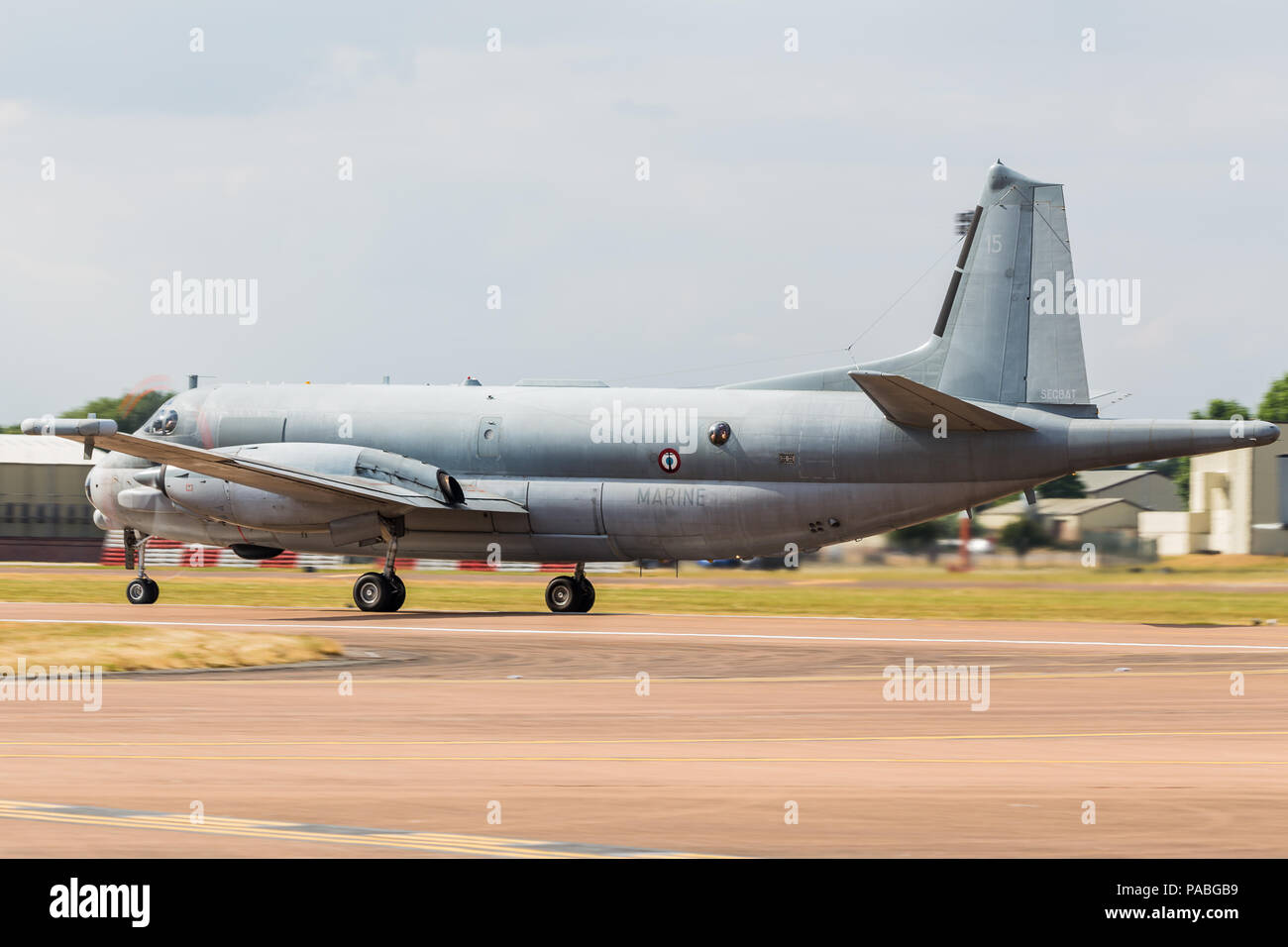 French Navy ATL2 pictured at the 2018 Royal International Air Tattoo at RAF Fairford in Gloucestershire. - Stock Image