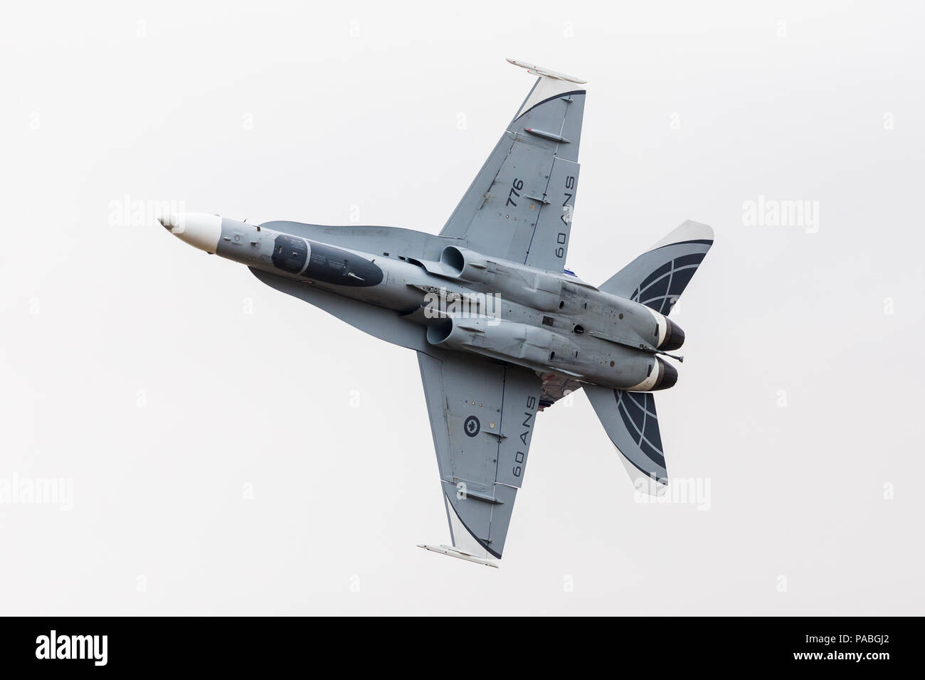 Royal Canadian Air Force CF-18 Hornet pictured at the 2018 Royal International Air Tattoo at RAF Fairford in Gloucestershire. Stock Photo
