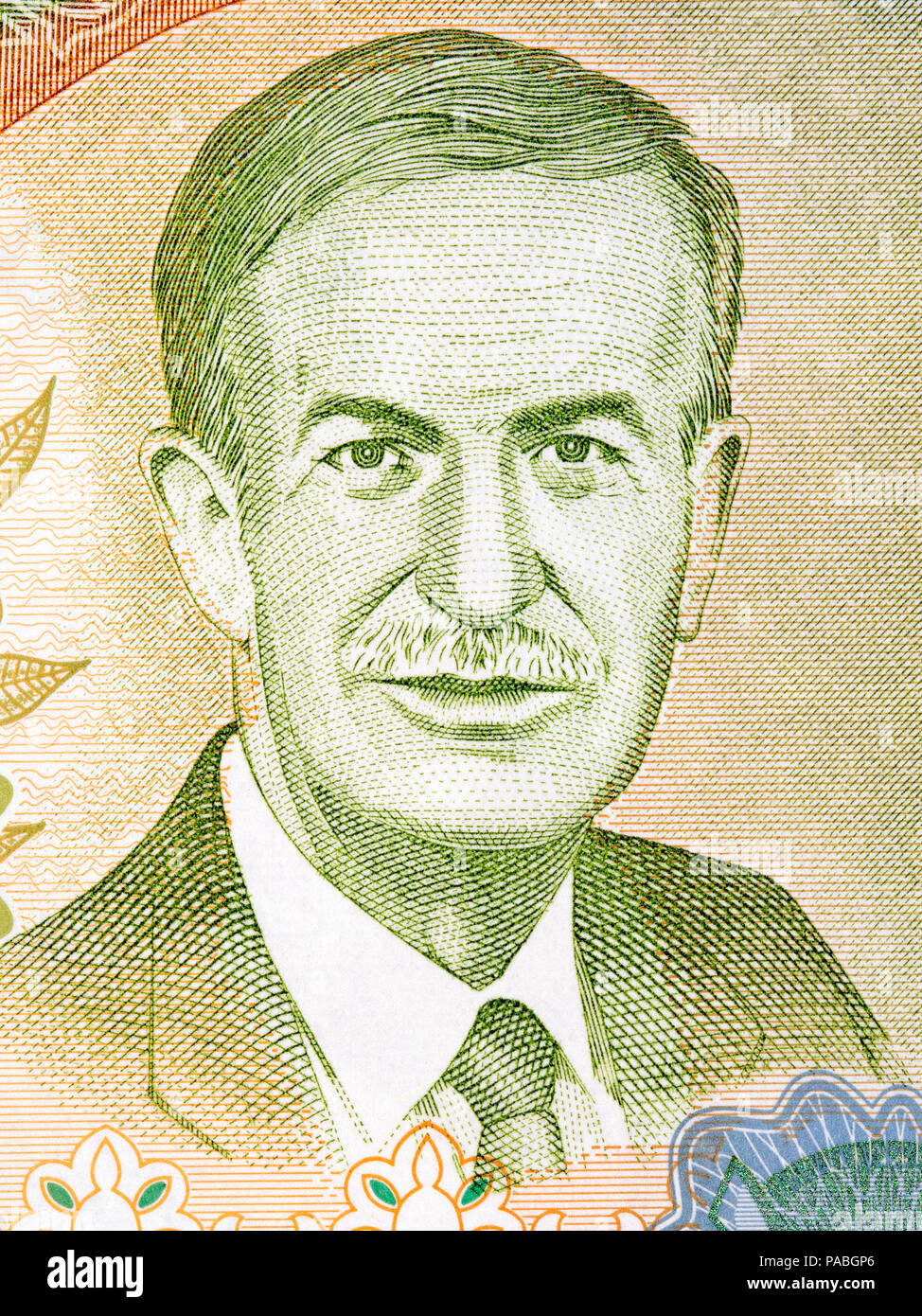 Hafez al-Assad portrait from Syrian Pound - Stock Image