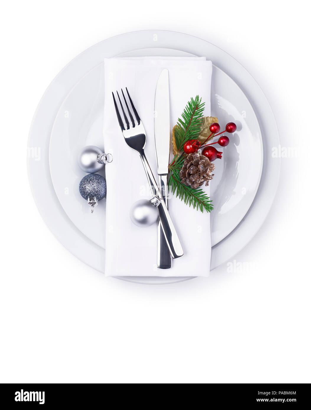new year and christmas celebration plate as background for menu and invitation