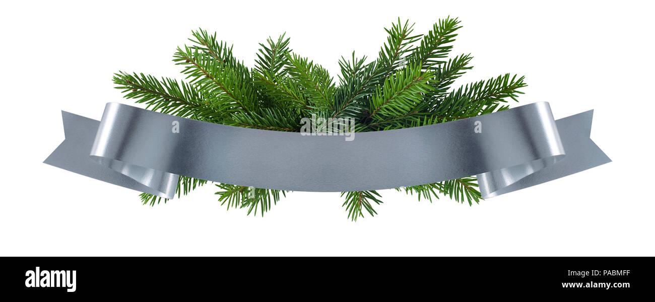 simple christmas silver decoration element for design of menu invitation poster - Simple Christmas Menu