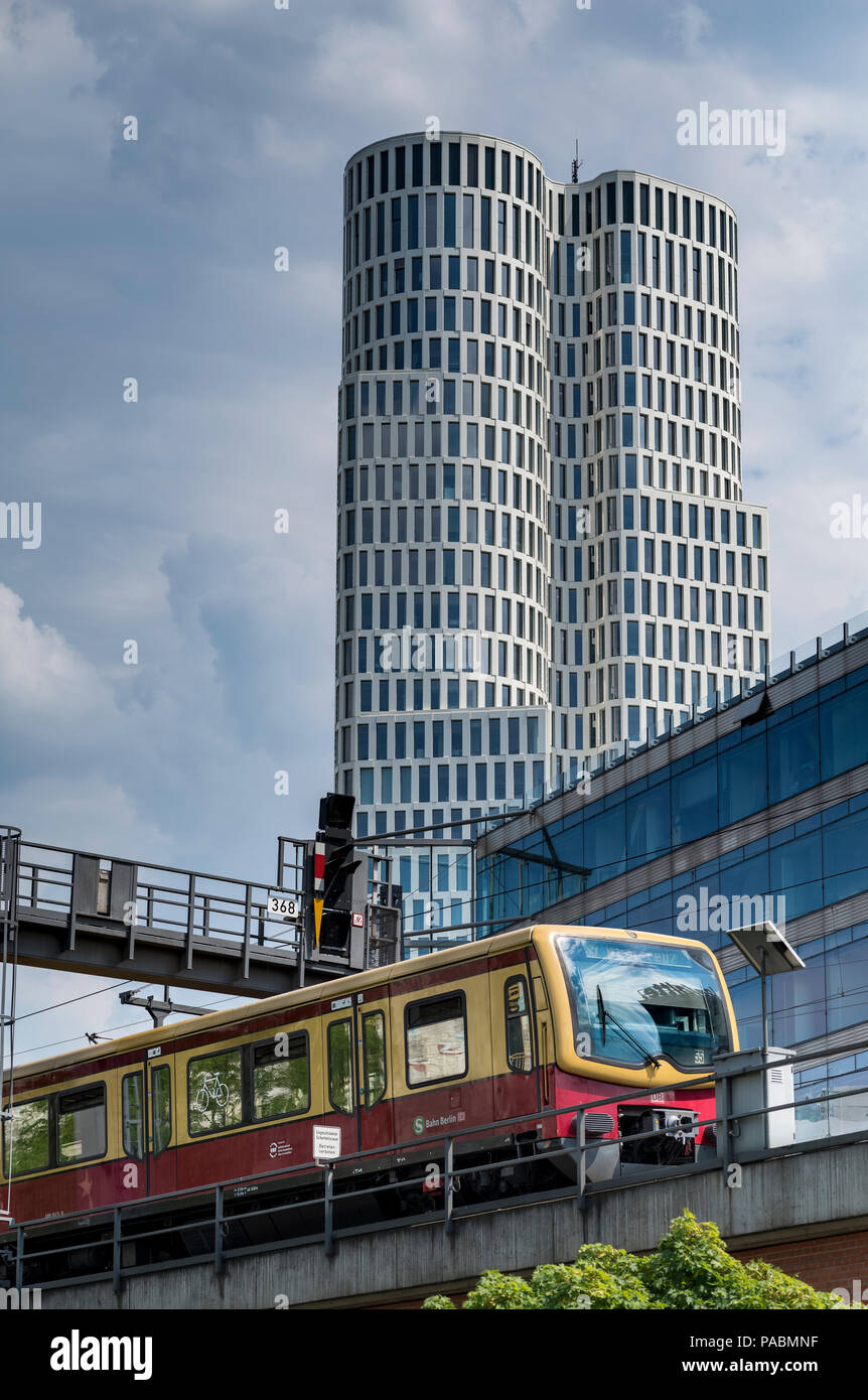 S BAHN  HARDENBERGSTRASSE BERLIN GERMANY Stock Photo