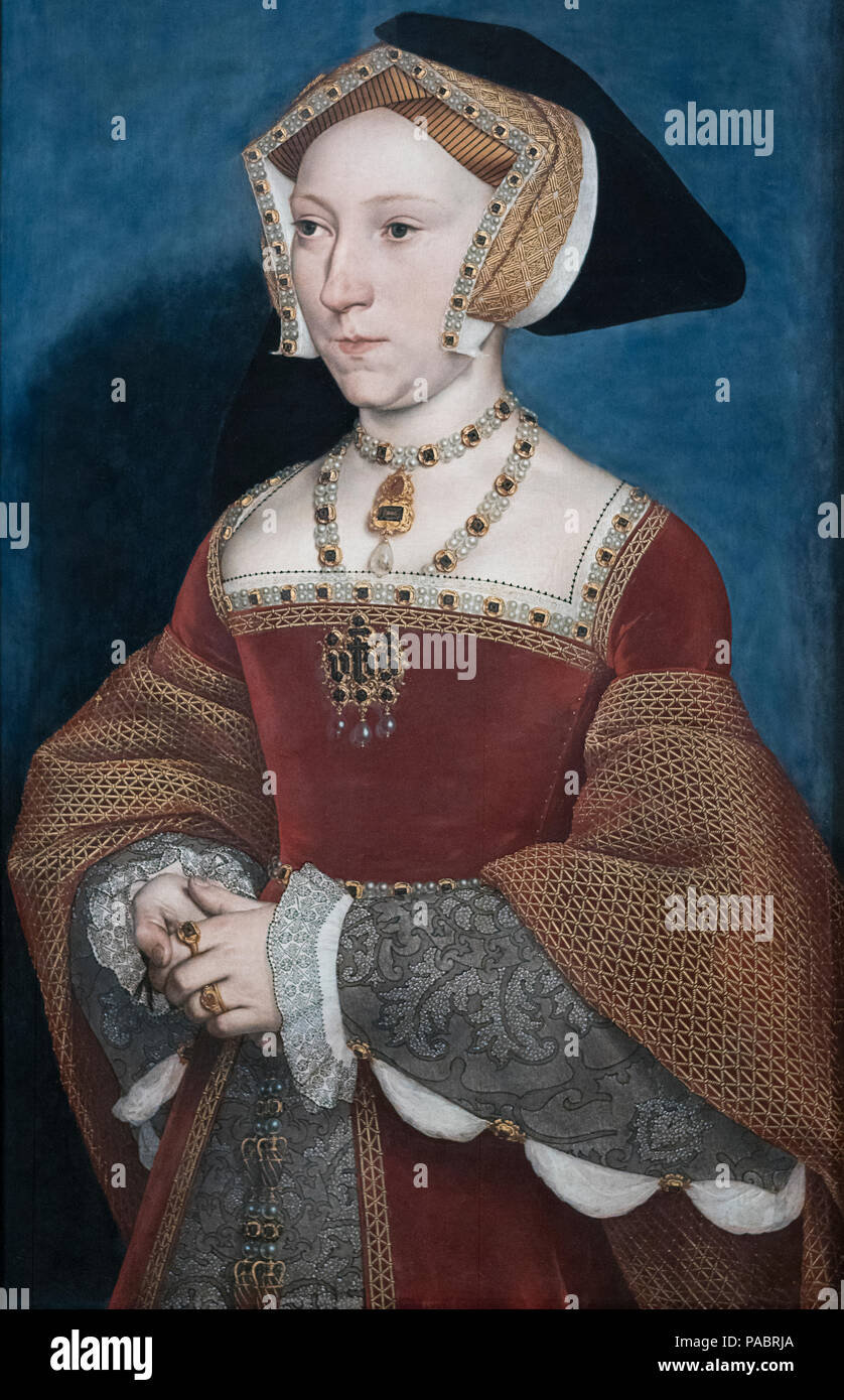 HANS HOLBEIN THE YOUNGER (1497-1543)  JANE SEYMOUR (1536/1537)    KUNSTHISTORISCHES MUSEUM              VIENNA AUSTRIA - Stock Image