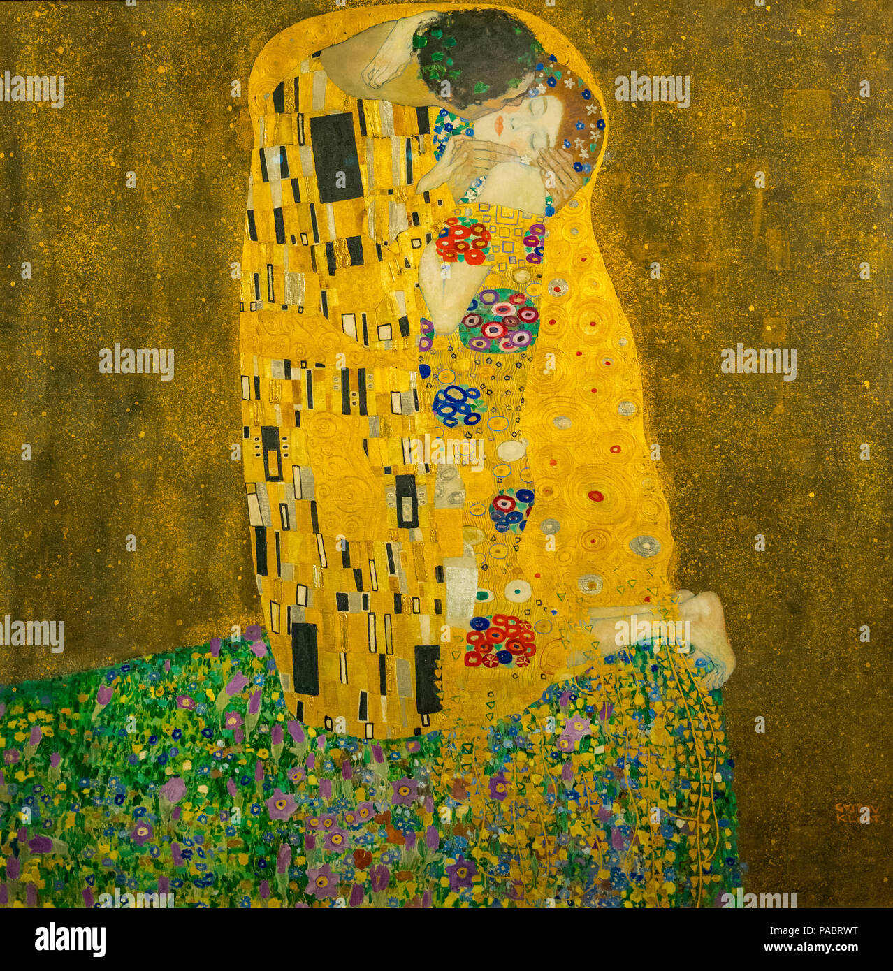 Gustav Klimt Kiss Stock Photos Gustav Klimt Kiss Stock