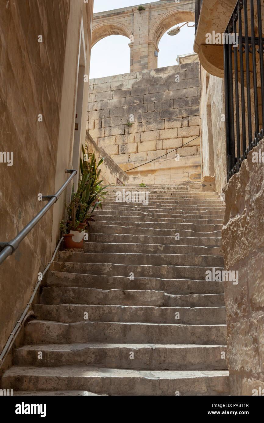 Steep Stairs In Valletta, Malta