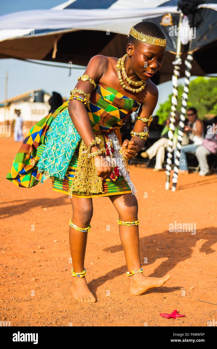 GHANA - MARCH 3, 2012: Ghanaian girl in national colors