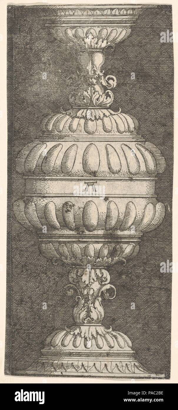 Double Goblet with Acanthus-Leaves. Artist: Albrecht Altdorfer (German, Regensburg ca. 1480-1538 Regensburg). Dimensions: Sheet: 8 3/8 × 3 11/16 in. (21.2 × 9.4 cm). Museum: Metropolitan Museum of Art, New York, USA. - Stock Image