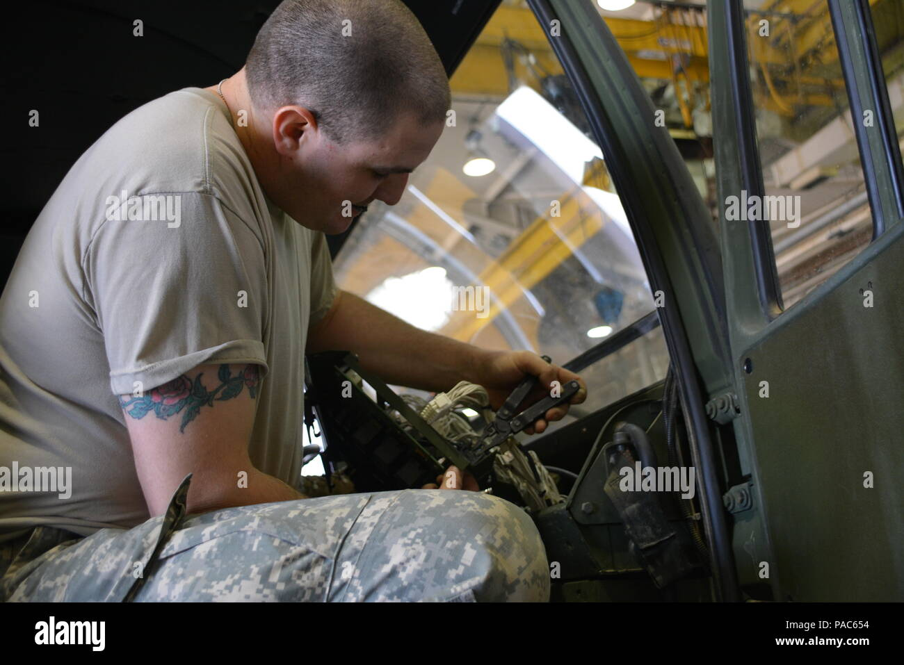 Wiring Harness Stock Photos Images Alamy Design Jobs In Germany Sgt Jacob Rankin Squad Leader 520th Supply Maintenance Company Prepares To Replace