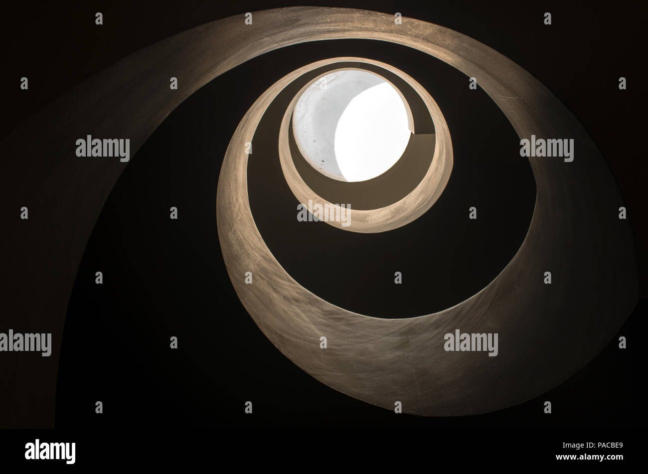 Spiral staicase - Stock Image
