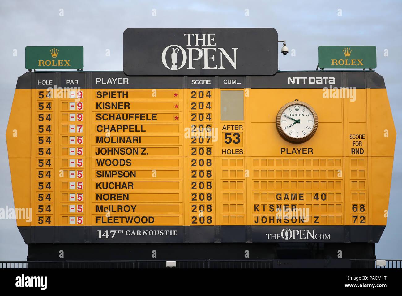 open golf scoreboard leaderboard stock photos  u0026 open golf
