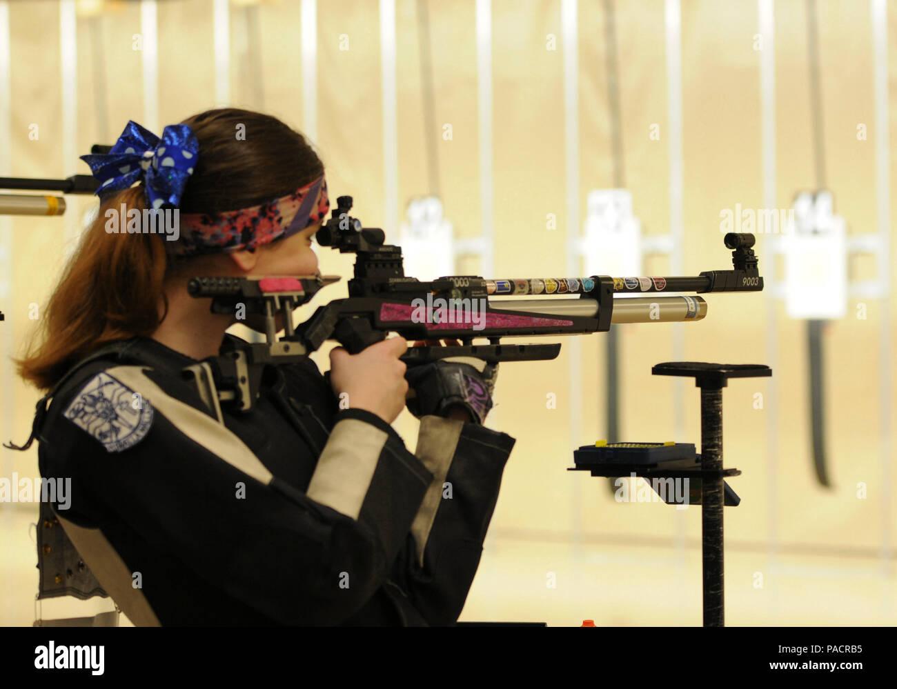 2016 Jrotc National Air Rifle Championships Stock Photos