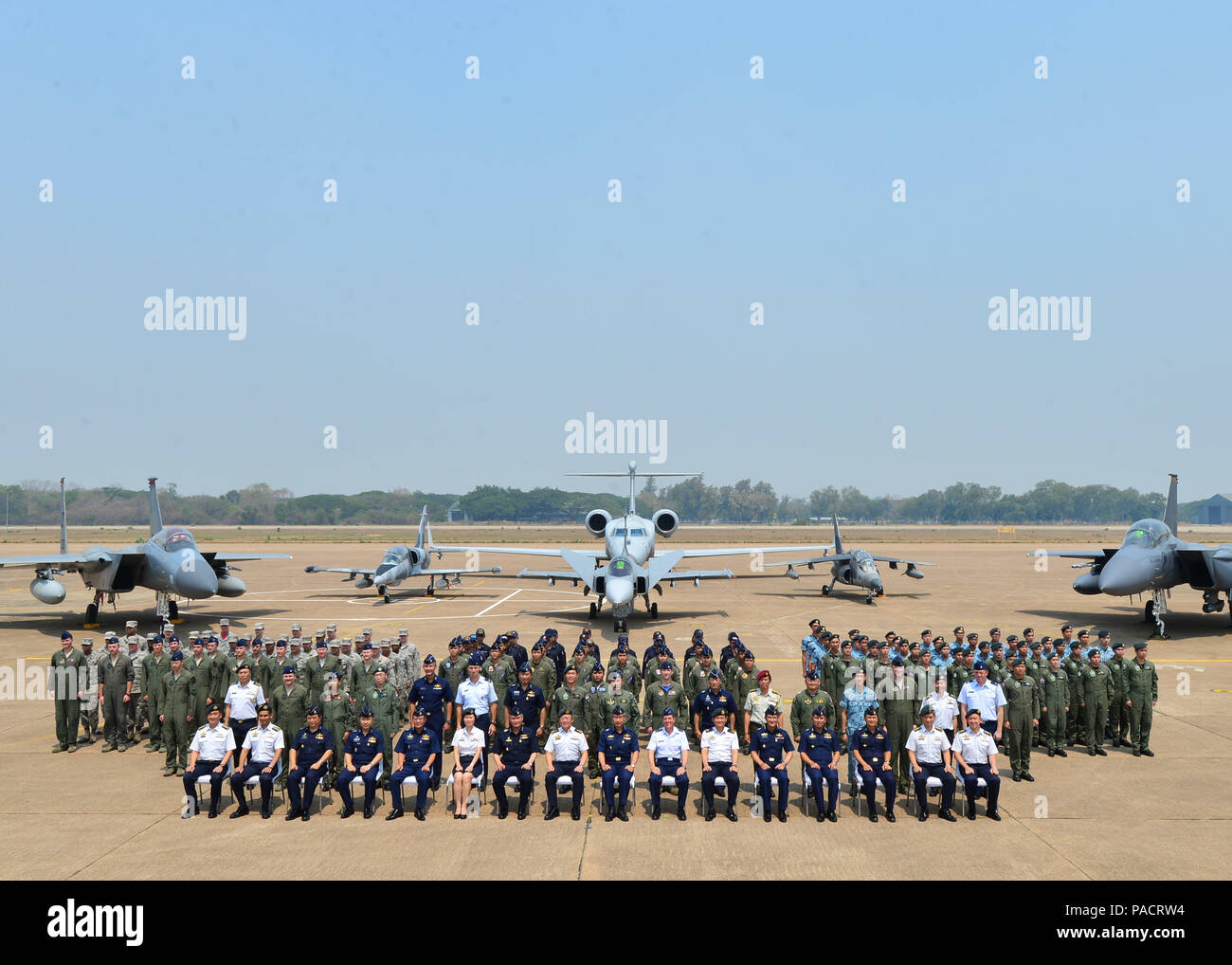 Military members from the Republic of Singapore Air Force, Royal