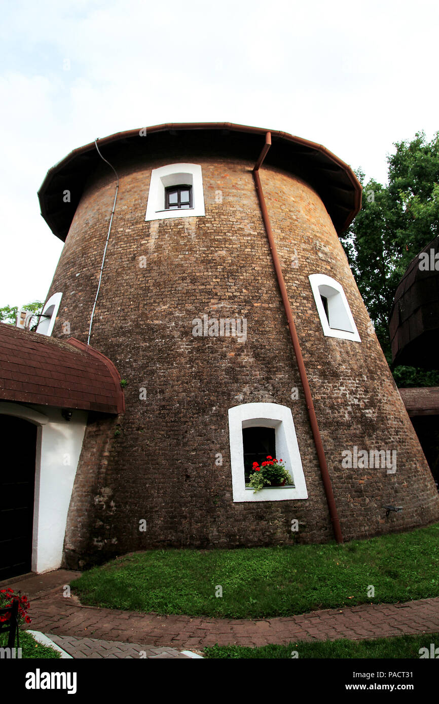 The old stone farmhouse dome shaped - Stock Image