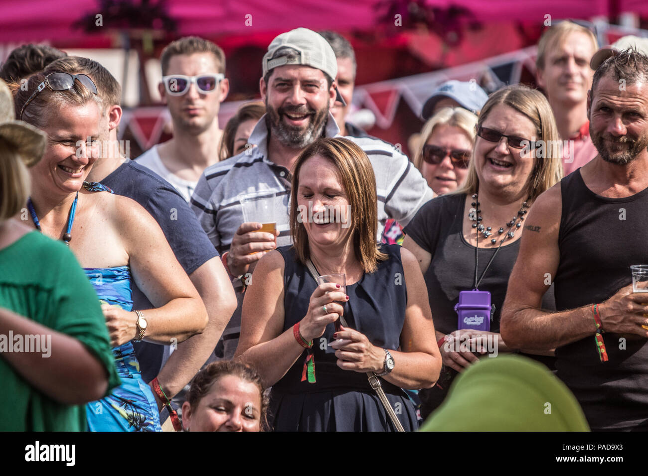 Kent, UK. 21st July, 2018. Kent, UK. 21 July 2018. Vicars Picnic - Music Festival Day 2 Performance  in Comedy tent - artist Stephen K Amos  Credit Glamourstock Credit: glamourstock/Alamy Live News Credit: glamourstock/Alamy Live News Stock Photo