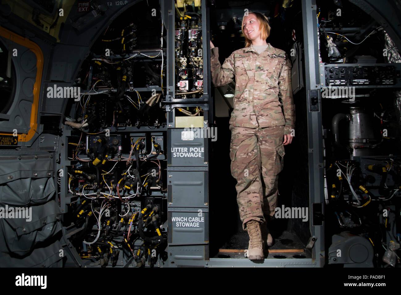 Sgt  Cassandra Peel, an avionic mechanic from Eureka