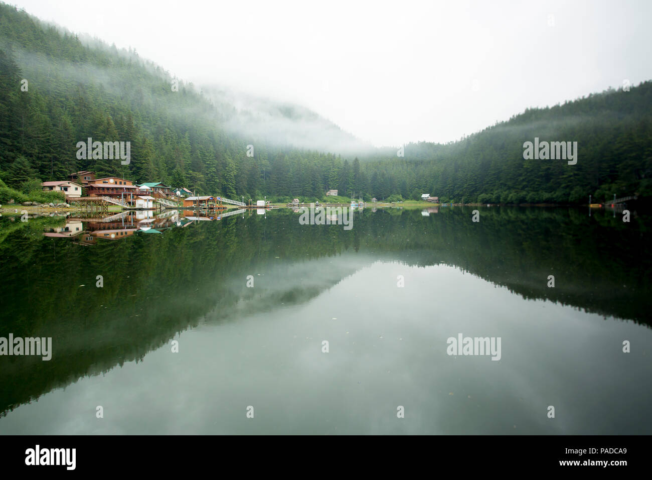 Remote village of Elfin Cove, Alaska Stock Photo
