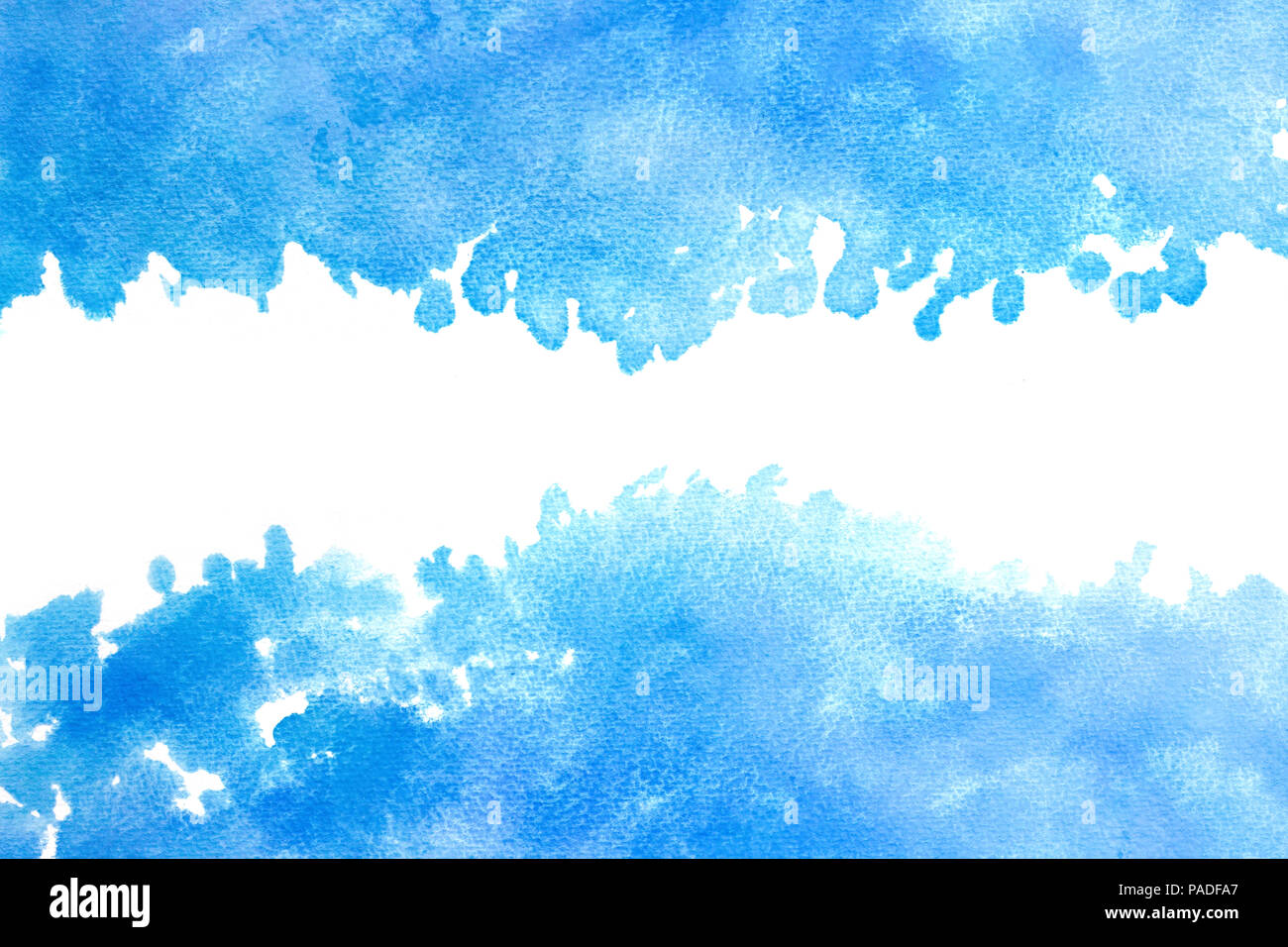 Blue Sky Watercolor Abstract Or Grunge Vintage Paint