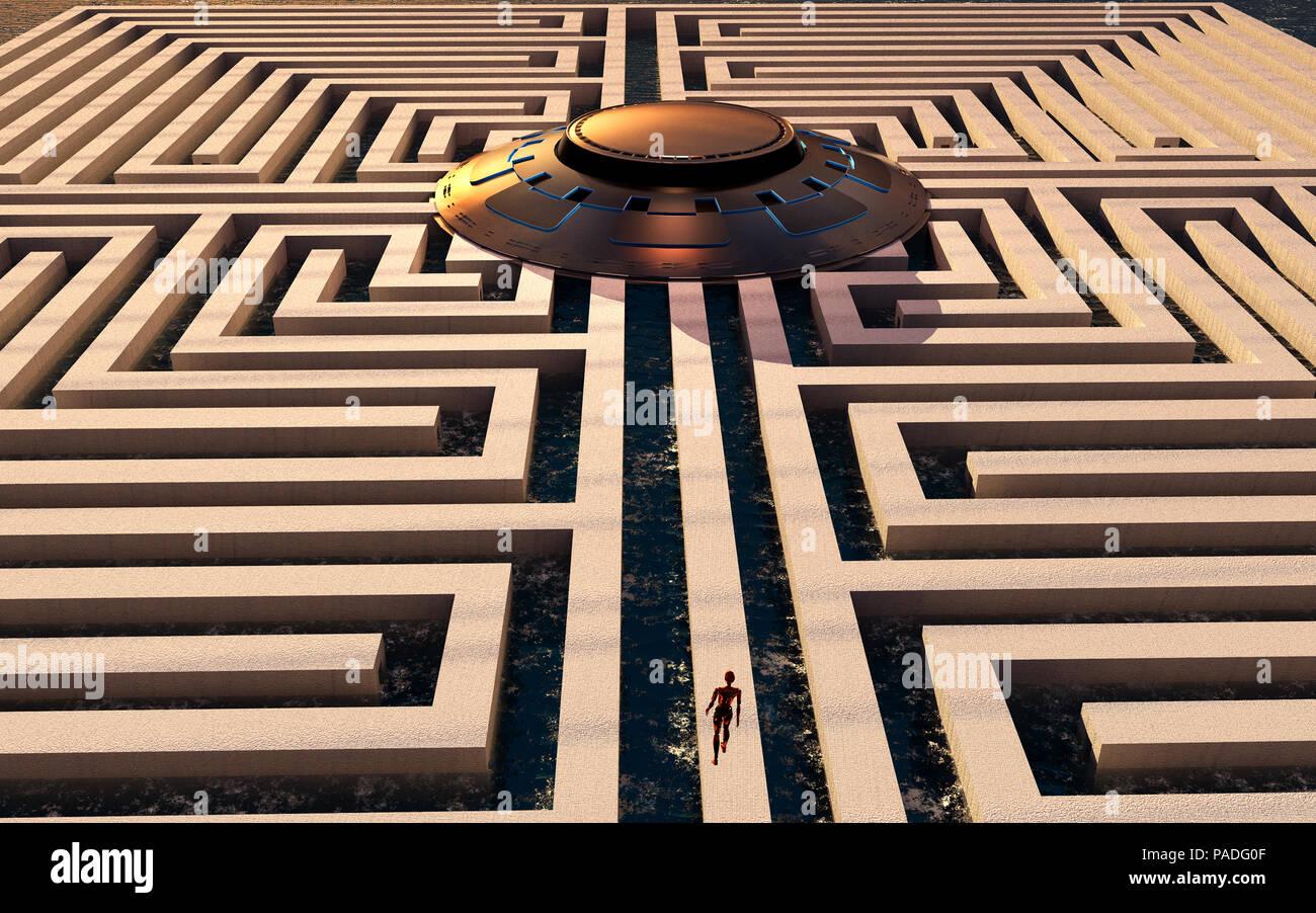 Alien Maze - Stock Image