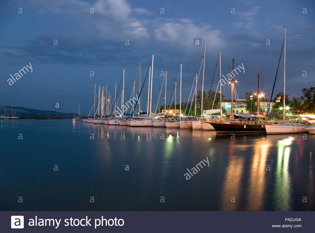 YAGHT PORT AT LEUCADE, GREECE - Stock Image