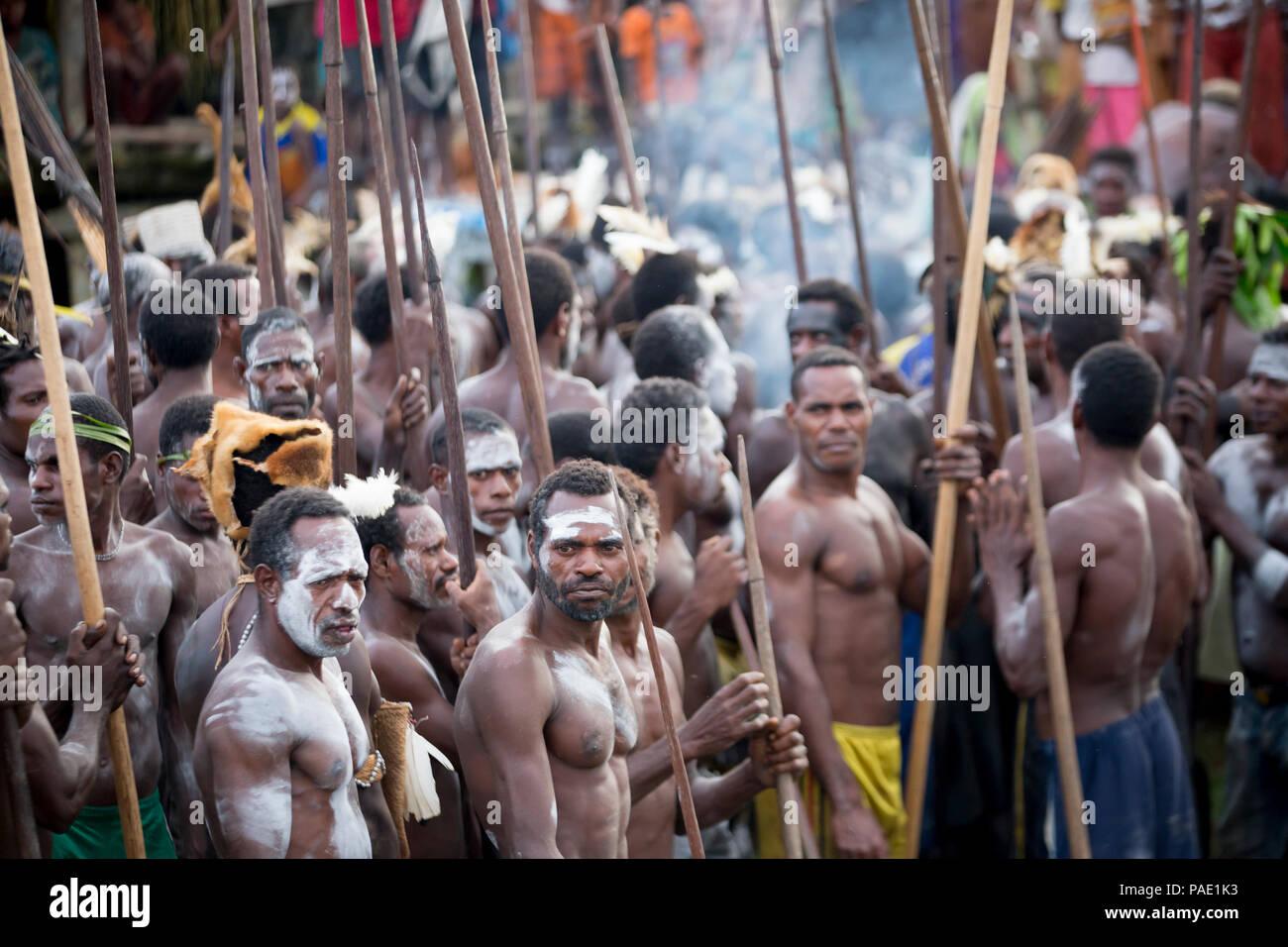 Tribal performance, West Papua - Stock Image