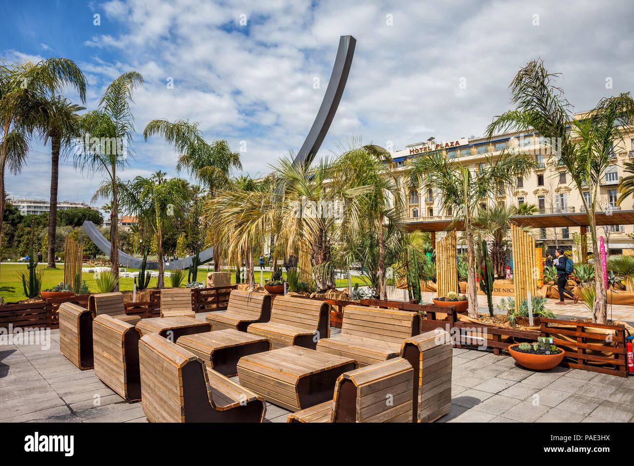 France, Nice, Albert I Garden - Jardin Albert 1er, Hotel Plaza in ...