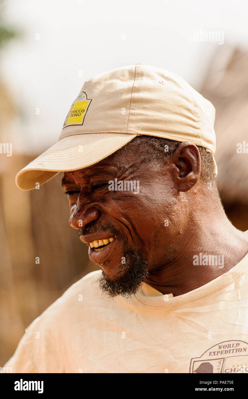 ACCRA, GHANA - MARCH 6, 2012: Unidentified Ghanaian man with a beard in the street in Ghana. People of Ghana suffer of poverty due to the unstable eco - Stock Image