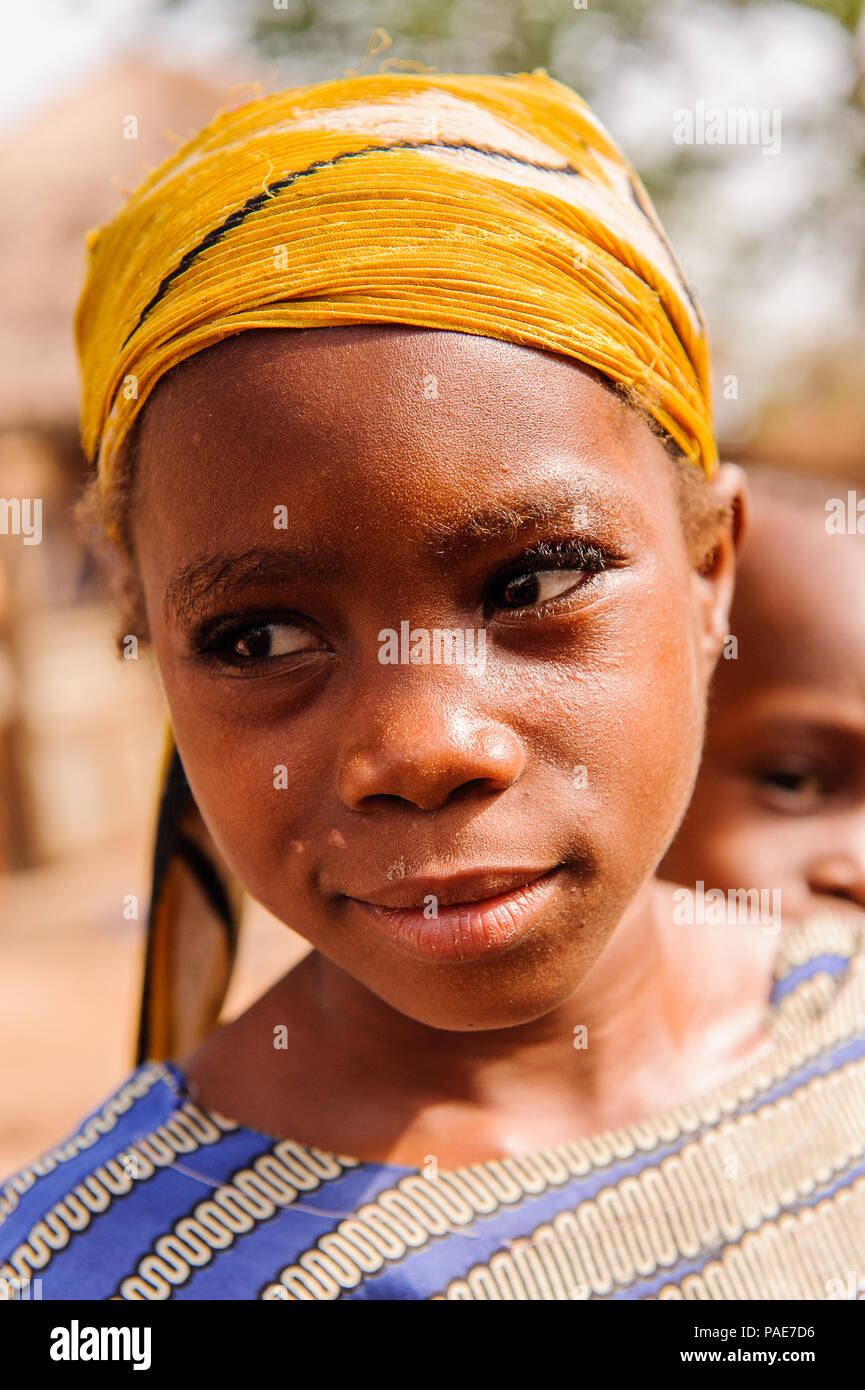ACCRA, GHANA - MARCH 6, 2012: Unidentified Ghanaian boy in the street in Ghana. Children of Ghana suffer of poverty due to the unstable economic situa - Stock Image