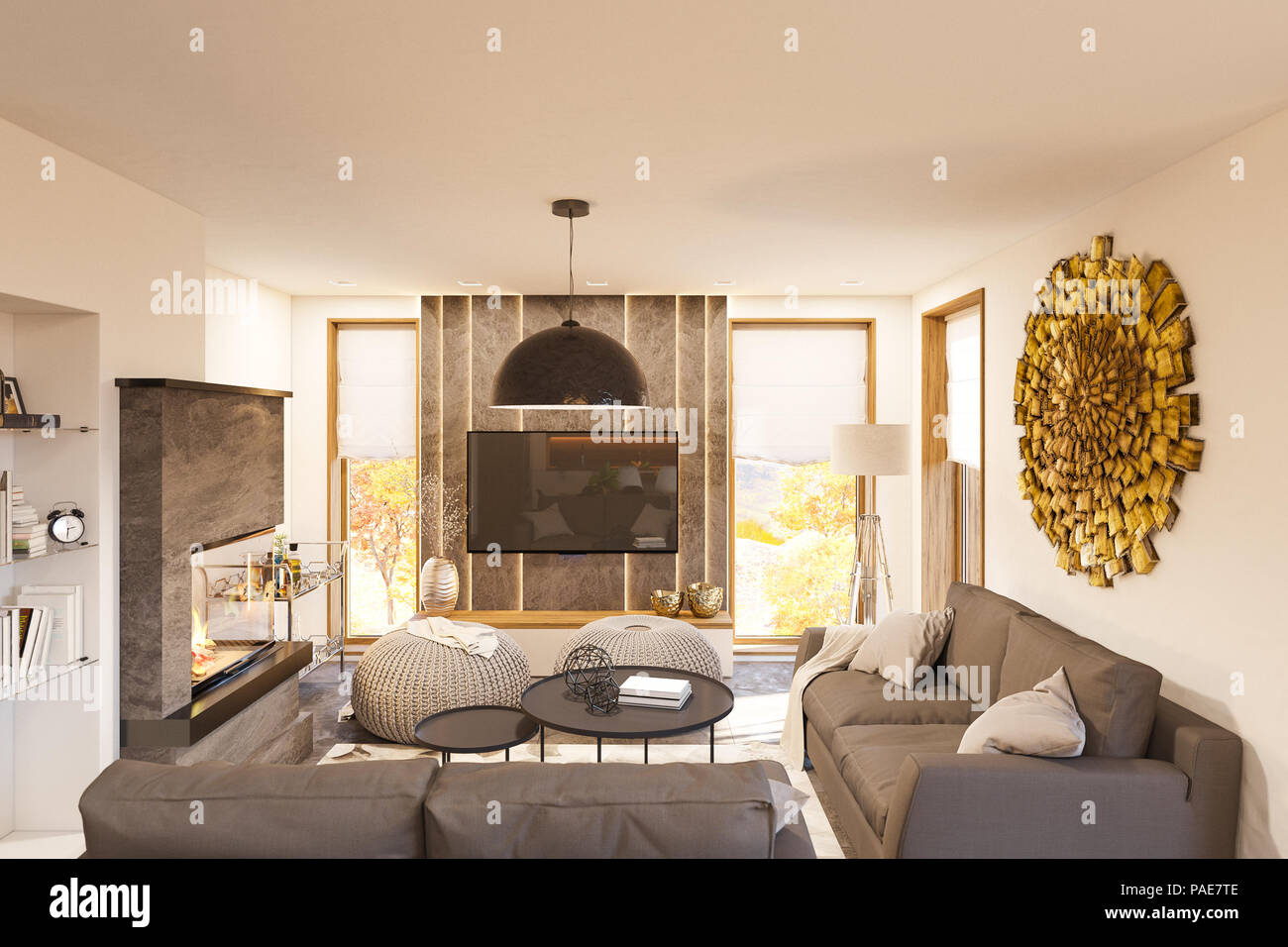 Living Room Interior Design Modern One Bedroom Studio