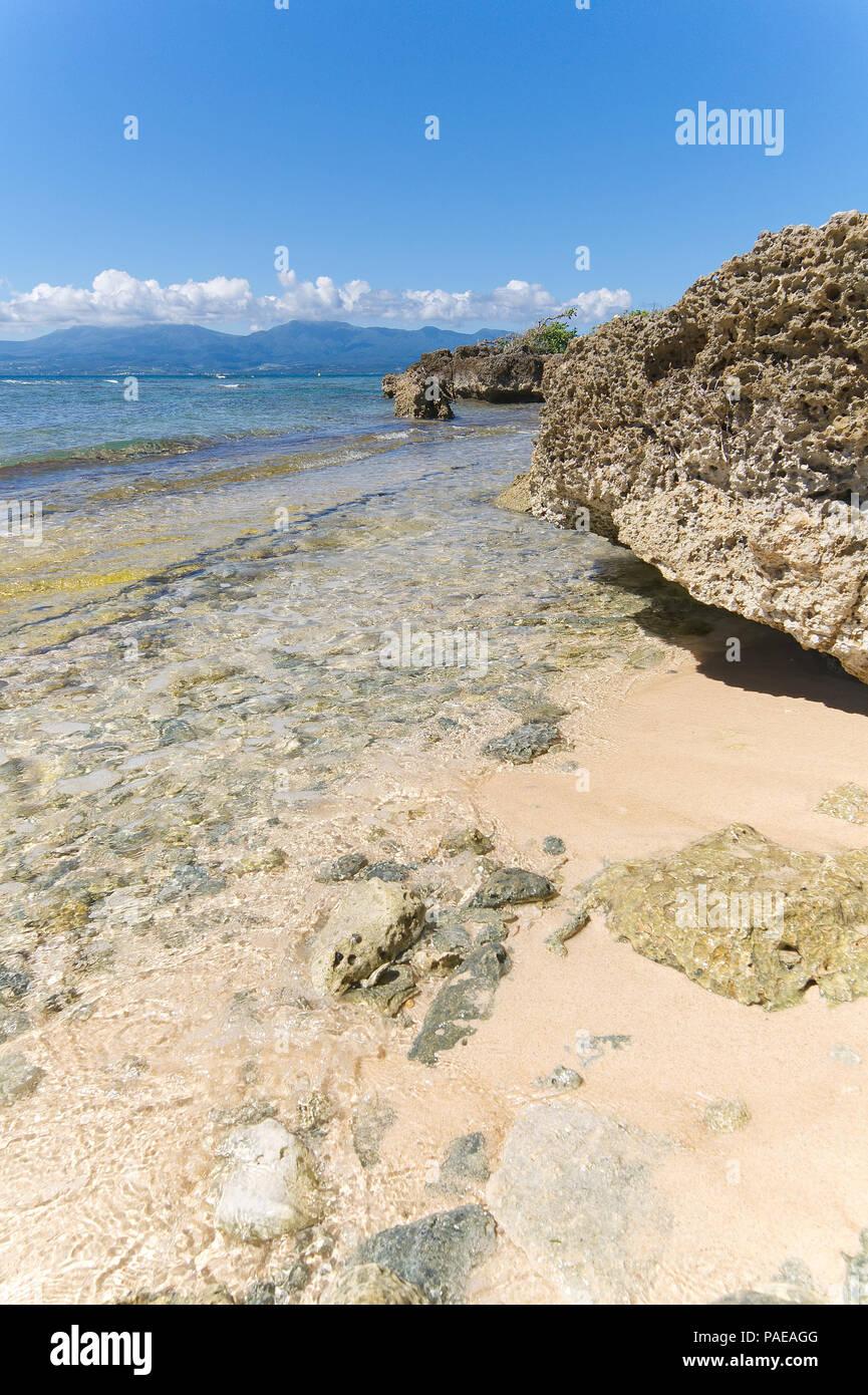 Ilet du Gosier - Gosier island - Le Gosier - Guadeloupe Caribbean island - Stock Image