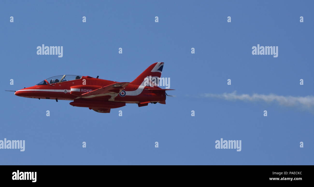 Red Arrows at RIAT 2018 - I'm outa here! - Stock Image
