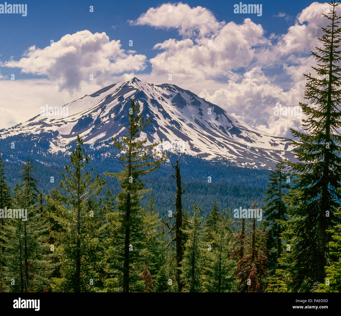 Lassen Peak, Lassen Volcanic National Park, California - Stock Image