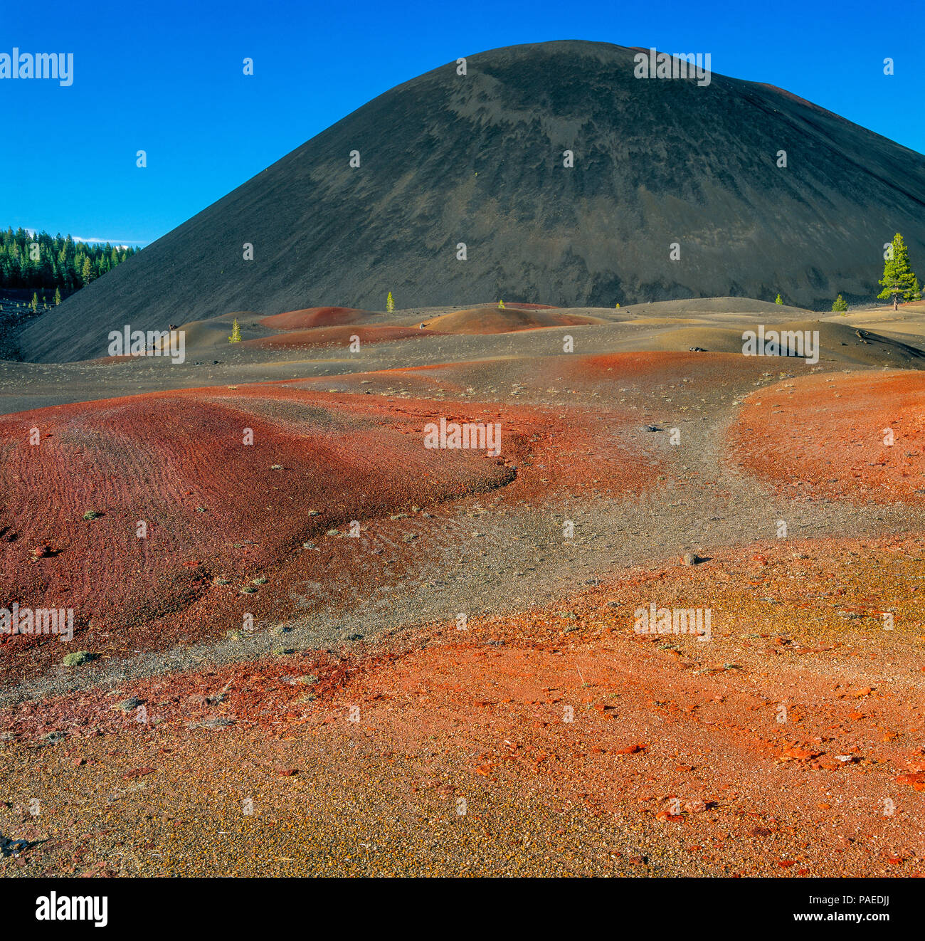 Cinder Cone, Painted Dunes, Lassen Volcanic National Park, California - Stock Image