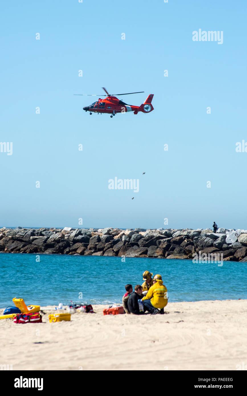 Coast Guard members participated in a large scale multi
