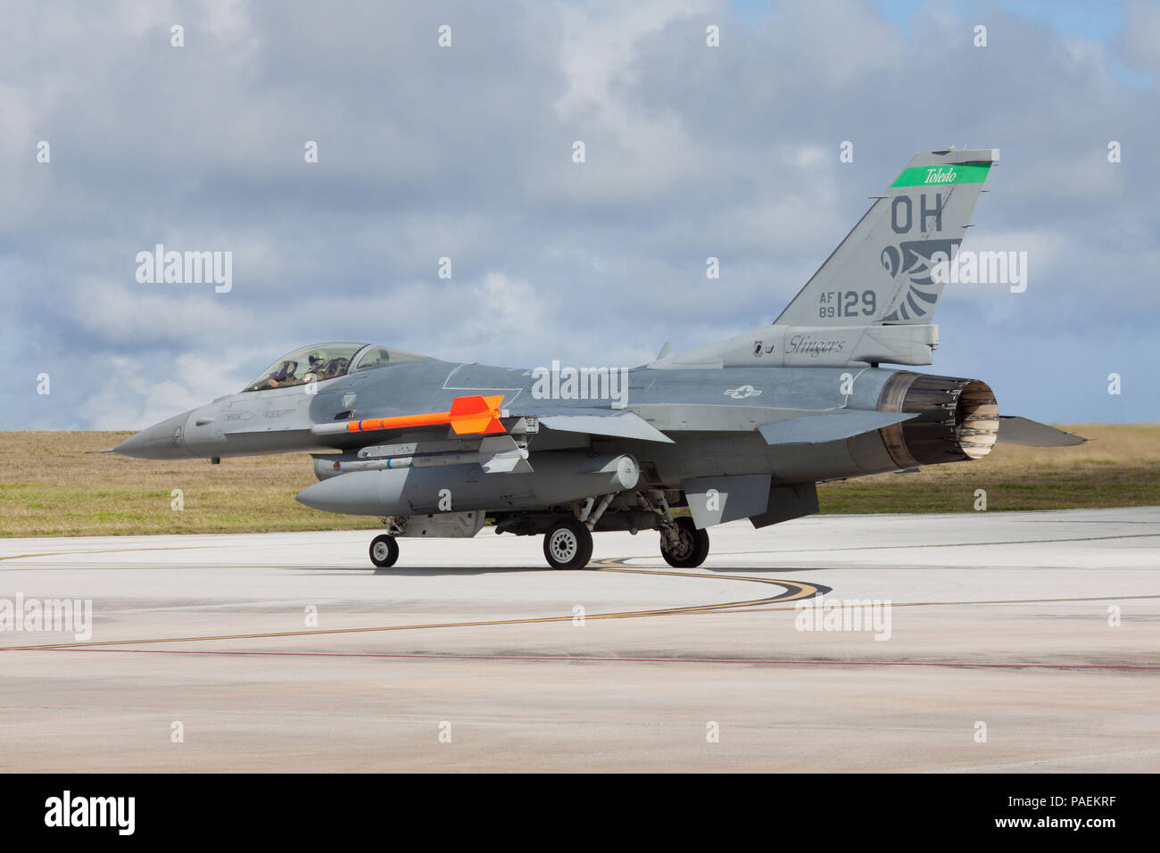 An F-16 Fighting Falcon assigned to the 112th Expeditionary