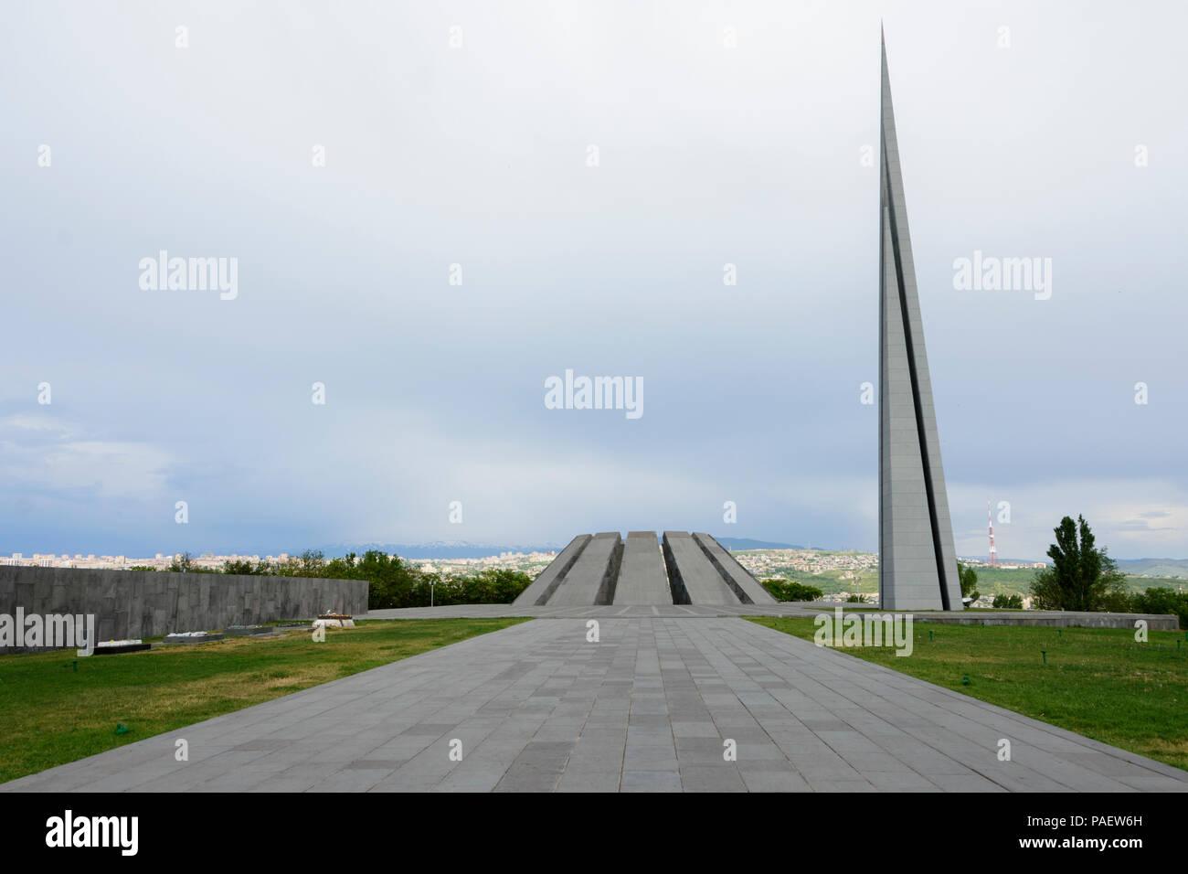 The Armenian Genocide Memorial in Yerevan, Armenia. - Stock Image