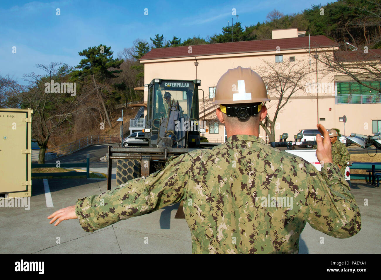 From front to back) staff sgt. Lee cundiff, 31st civil engineer.