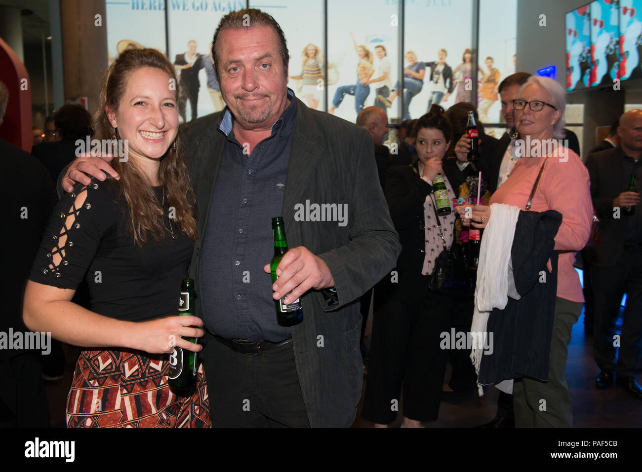 Actor Andreas Giebel with daughter Sarah seen at the openeing ceremony of Filmfest München 2018 - Stock Image