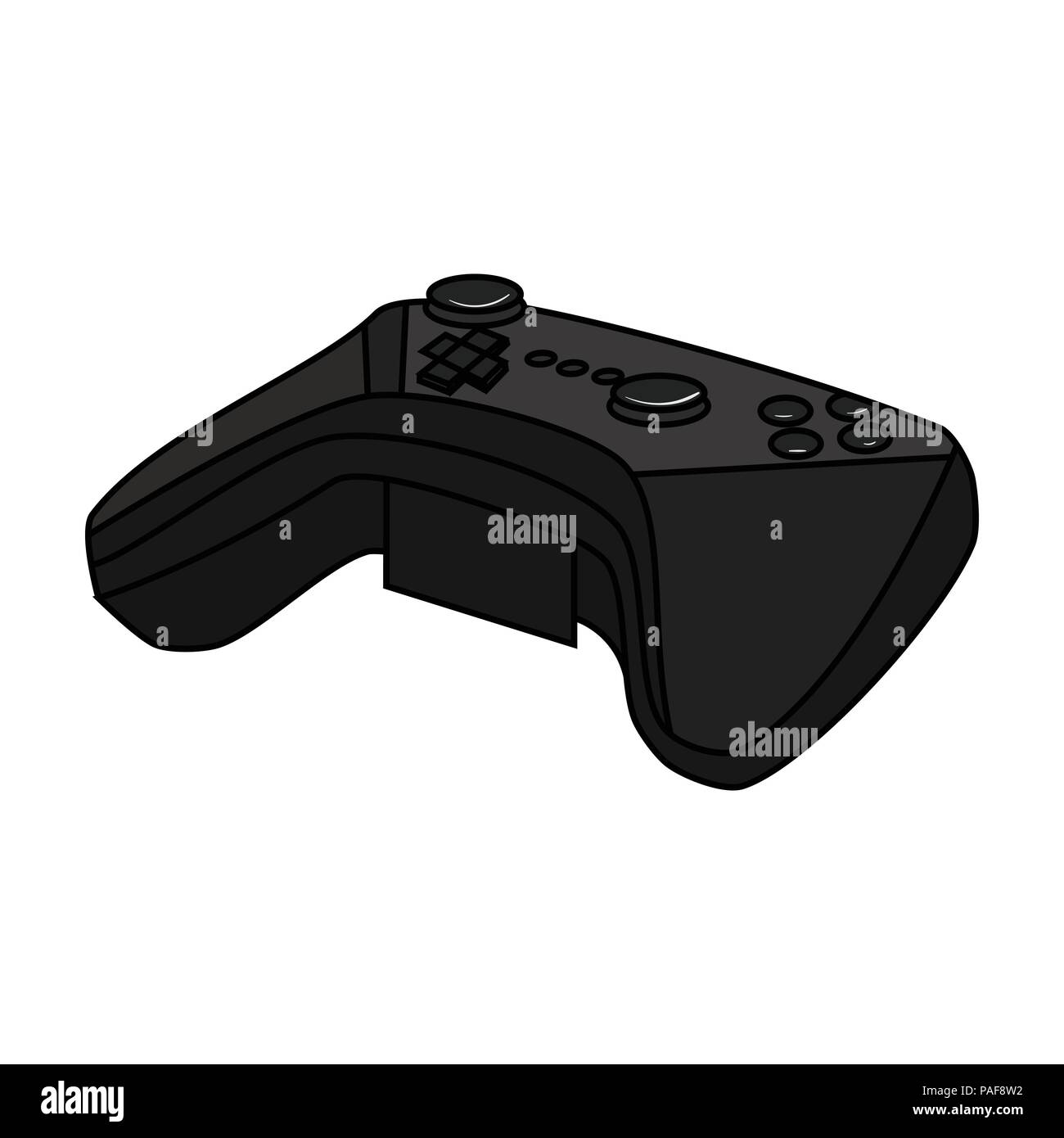Game Controller For The Virtual Reality Icon In Cartoon Style