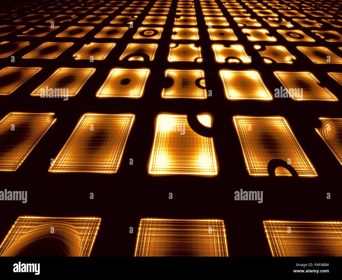 Simple perspective digitally generated image - Stock Image