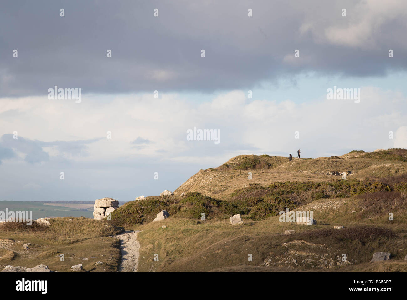 Views from a look out point on the Isle of Portland. - Stock Image