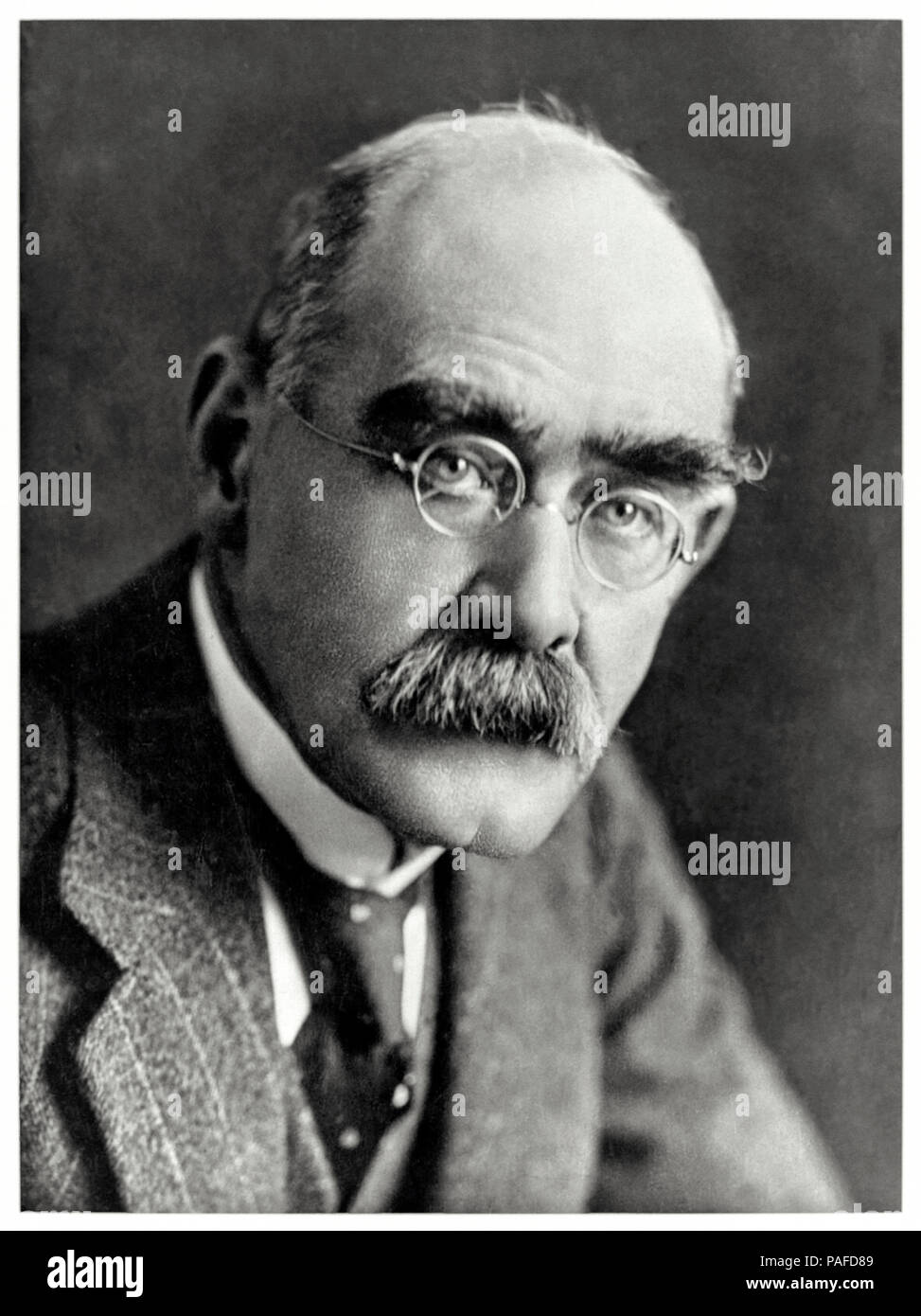 Rudyard Kipling (1865-1936) English writer best remembered for his poems, the 'Just So Stories' and 'The Jungle Book'. See more information below. - Stock Image