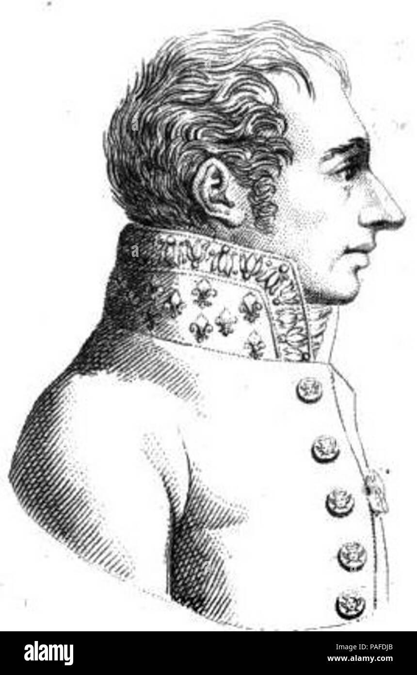 Joseph Henri Joachim Lainé (1768-1835). - Stock Image