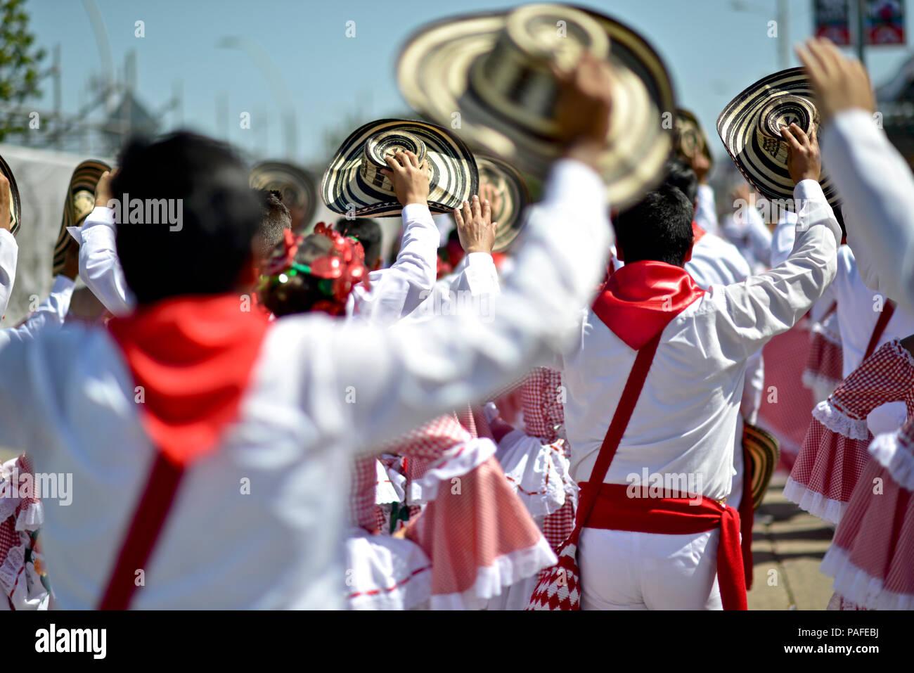 Battle of Flowers, Barranquilla Carnaval. Stock Photo