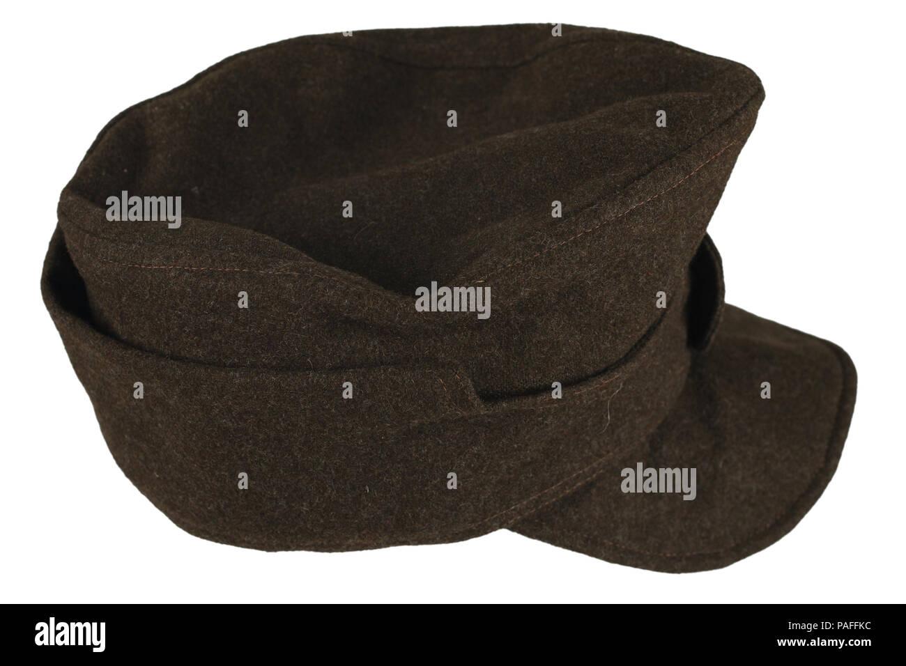 2410d12f6a603 German Army infantry grey kepi World War II period - Stock Image