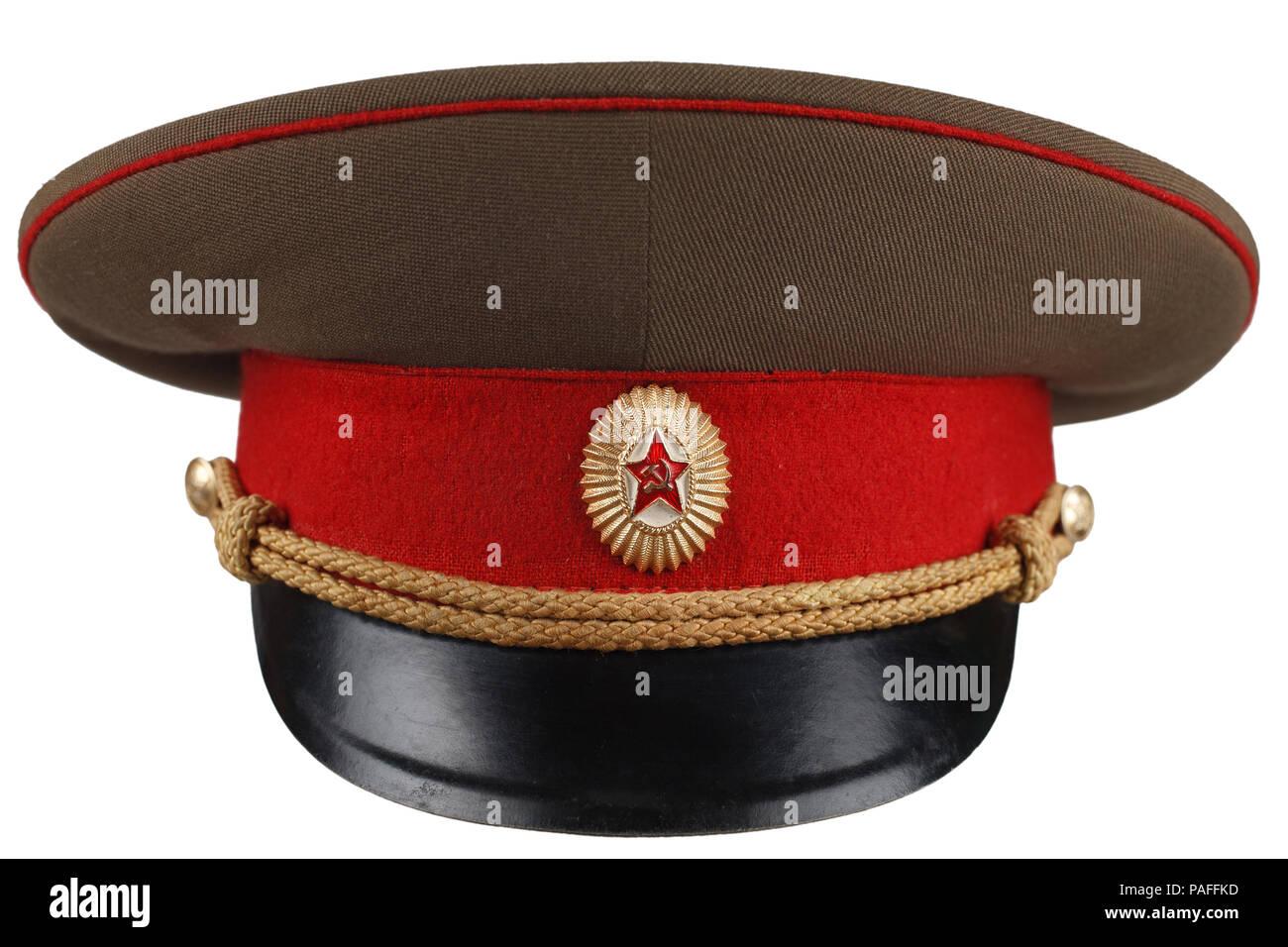 767da73df1c6d Soviet Army officer cap isolated Stock Photo: 213012561 - Alamy