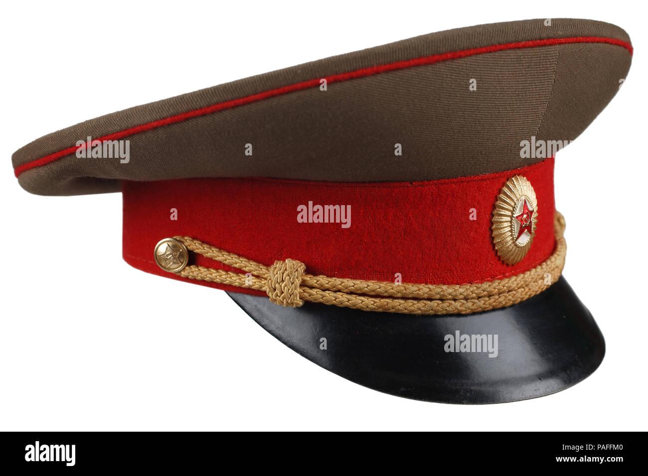 7b748302b3d6a Soviet Army officer cap isolated Stock Photo: 213012576 - Alamy