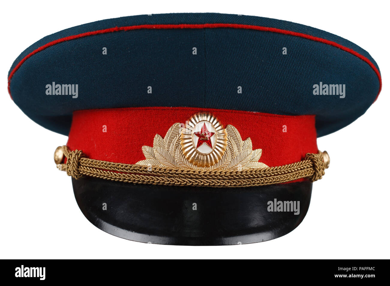 6df1857cc1cae Soviet Army officer cap isolated Stock Photo: 213012588 - Alamy