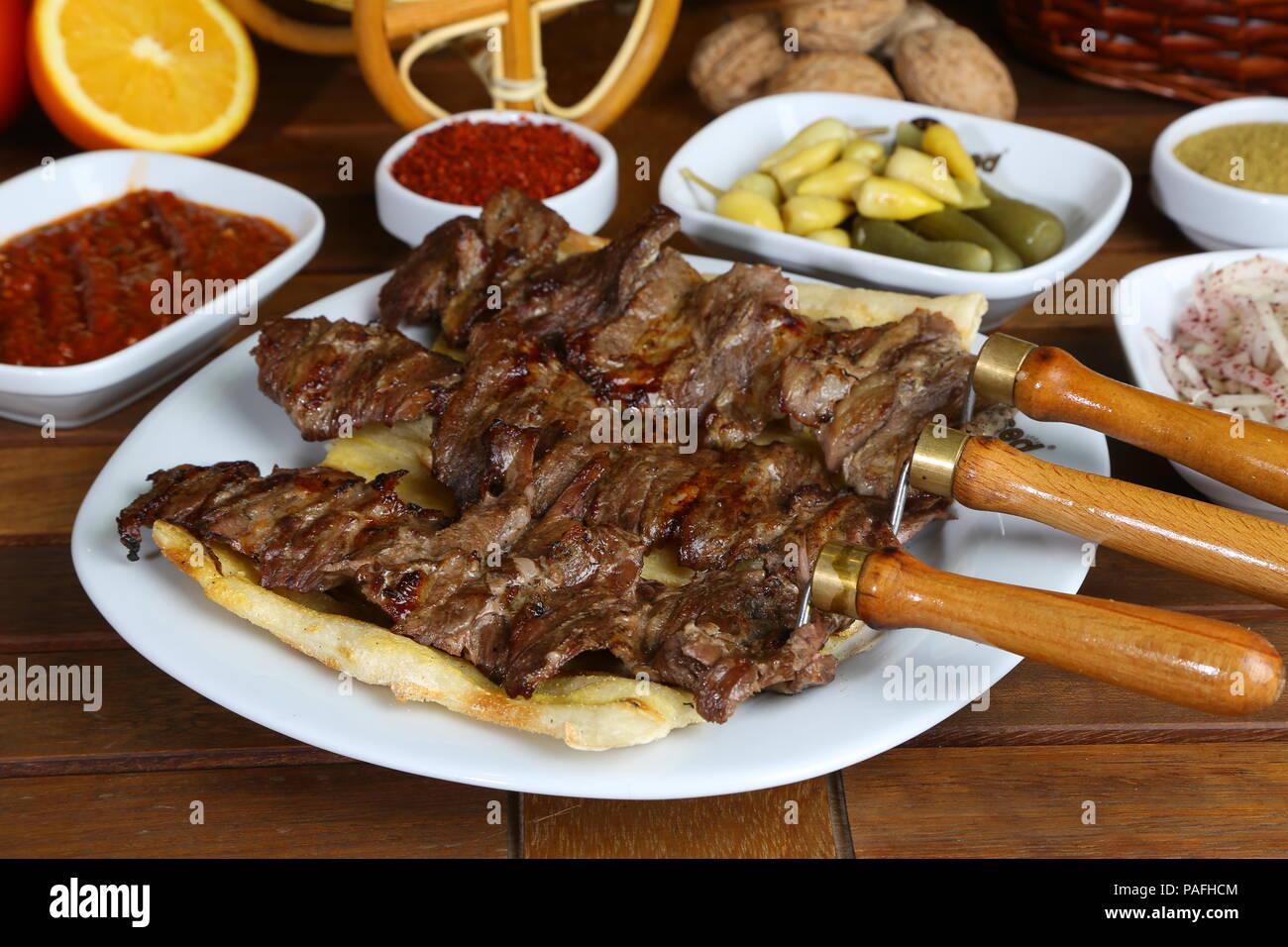 https www alamy com turkish cag kebab doner in plate image213013940 html