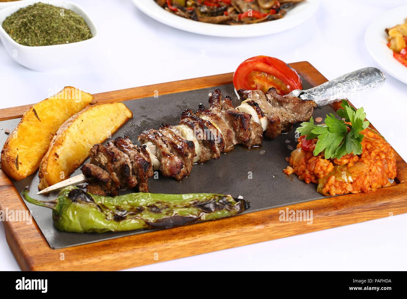 https www alamy com turkish cag kebab doner in plate image213013958 html