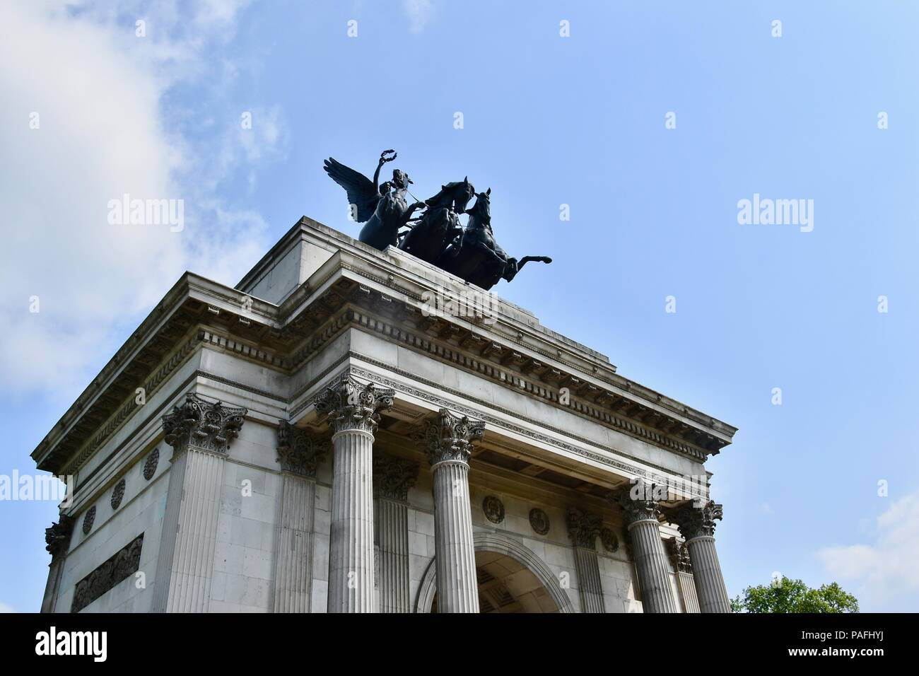Wellington Arch, Hyde Park Corner, London, U.K. - Stock Image
